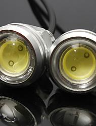 Недорогие -2шт автомобиля 3 Вт светодиодный орлиный глаз дневного света заднего хода резервная лампа