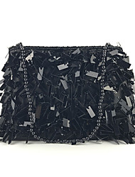 cheap -Women's Sequin / Glitter Polyester Evening Bag Embroidery Black / Rainbow