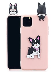 cheap -Case For Apple iPhone 11 / iPhone XR / iPhone 11 Pro Pattern Back Cover 3D Cartoon TPU