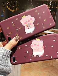 cheap -Case For Apple iPhone XS / iPhone XR / iPhone XS Max/7 8 plus/6splus/6s Frosted / Pattern Back Cover 3D Cartoon TPU