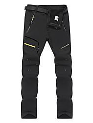 cheap -Men's Hiking Pants Softshell Pants Outdoor Thermal / Warm Waterproof Windproof Fleece Lining Winter Softshell Pants / Trousers Bottoms Ski / Snowboard Climbing Camping / Hiking / Caving Black Dark