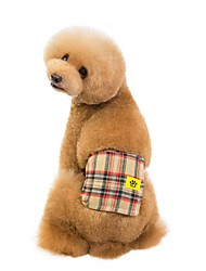cheap -Dogs Health Care Pants Dog Clothes Red Blue Beige Costume Dalmatian Shiba Inu Pug Poly / Cotton Blend Plaid / Check Ordinary Special S M L XL