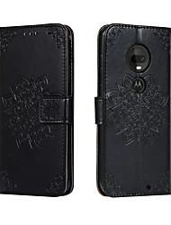 cheap -Case for Motorola Moto G7/G7 Plus Moto G7 Play Card Holder with Stand Flip Full Body Cases Flower PU Leather Moto G6 Play/E5 Moto G7 Power