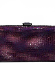 cheap -Women's Crystals / Glitter Alloy Evening Bag Black / Purple / Champagne
