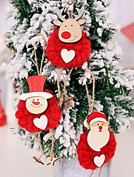 cheap -Christmas Ornaments Christmas Polyester Mini Cartoon Christmas Decoration