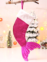 cheap -Christmas Sequins Mermaid Tail Gift Bag Christmas Sock Gift Bag Decoration Pendant