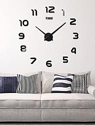 Недорогие -настенные часы, модные поделки акриловые круглые в помещении 100 * 100см (39&Quot; * 39&Quot;)