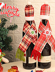 cheap -Wine Bags & Carriers / Gift Bags / Decoration Kits Holiday / Family Cloth Cartoon / Party Christmas Decoration