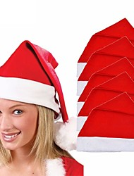 cheap -5pcs Adult Children Xmas Red Caps Santa Novelty Hat for Christmas Party Christmas Party Chapeau Hat