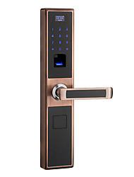 cheap -Factory OEM 003 Aluminium alloy Fingerprint Lock / Password lock Smart Home Security Android System RFID / Fingerprint unlocking Home / Office / Hotel Wooden Door (Unlocking Mode Fingerprint / Card)