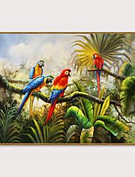cheap -Framed Art Print Framed Set - Landscape Animals PS Oil Painting Wall Art