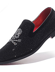 cheap -Men's Moccasin Synthetics Spring / Fall Casual / British Loafers & Slip-Ons Non-slipping Black / Party & Evening / Rhinestone / Party & Evening / Driving Shoes
