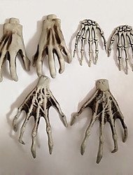 cheap -A Pair of Plastic Material Skeleton Hands Haunted House Bar Decoration Halloween Adult Accessories Horror Hand Party Decoration