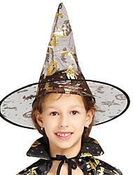 Недорогие -ведьма Шапки Товары для Хэллоуина Маскарад Жен. Шапки Хэллоуин Хэллоуин Карнавал Маскарад Фестиваль / праздник Тюль Золотой Жен. Карнавальные костюмы