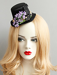 cheap -Women's Dainty Vintage Trendy Fabric Alloy Hat Hair Clip Halloween