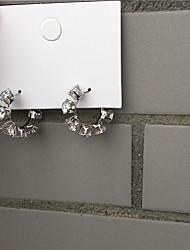 cheap -Women's Earrings Classic Alphabet Shape Imitation Diamond Earrings Jewelry Gold / Silver For Gift Daily Festival 1 Pair