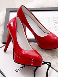 cheap -Women's Heels Stiletto Heel Pointed Toe PU Summer Black / Almond / White / Daily