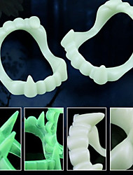 cheap -Buck Teeth Joke Practical Joke Gadget Light Up Toy Novelty Holiday Tooth Lighting Glow in the Dark Fluorescent Plastics Teen Toy Gift 10 pcs / Noctilucent / Funny & Reluctant