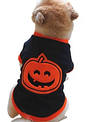 cheap -Dogs Sweatshirt Dog Clothes Warm Black Halloween Costume Baby Small Dog Polyster Pumpkin XS S M L