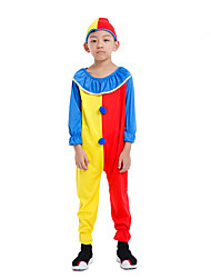 cheap -Clown Halloween Props Kid's Boys' Halloween Halloween Festival / Holiday polyester fibre Yellow Carnival Costumes