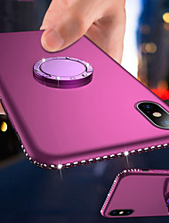 cheap -Magnetic Ring Holder Bling Diamond Soft TPU Phone Case For iphone 11 Pro Max / iphone 11 Pro / iphone 11 / XS Max XR XS X 8 Plus 8 7 Plus 7 6 Plus 6 Rhinestone Frame Silicone Shockproof Stand Cover