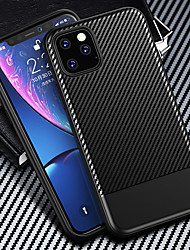 cheap -Carbon Fiber Texture Matte Case For iPhone 11 Pro Max / iphone 11 Pro / iphone 11 / XS Max XR XS X 8 Plus 8 7 Plus 7 6 Plus 6 Shockproof Soft Silicone TPU Cover Bumper Case