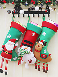 cheap -Christmas Stocking Decoration Large Christmas Stocking Gift Bag Christmas Hanging Gift Bag