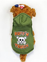cheap -Dogs Coat Dog Clothes Green Halloween Costume Polyster Skull XXS XS S M