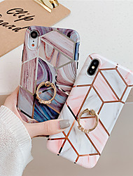 cheap -Phone Case For Apple Back Cover iPhone 11 Pro Max SE 2020 X XR XS Max 8 7 6 Ring Holder Pattern Geometric Pattern Marble TPU