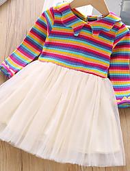 cheap -Toddler Girls' Striped Dress Light Blue