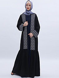 cheap -Arabian Adults' Women's Cosplay Casual / Daily Cosplay Costume Arabian Dress Hijab / Khimar For Party Halloween Linen / Cotton Blend Halloween Carnival Masquerade Dress