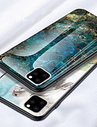 cheap -Marble Tempered Glass Phone Case for iphone 11 Pro / iphone 11 / iphone 11 Pro Max / iphone XS Max XR XS X 8 Plus 8 7 Plus 7 6 Plus 6 Shockproof Back Cover Silicone Soft TPU Edge Protective