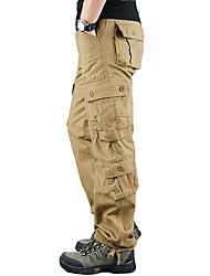 cheap -Men's Hiking Pants Hiking Cargo Pants Winter Outdoor Warm Soft Comfortable Wear Resistance Cotton Pants / Trousers Bottoms Camping / Hiking Hunting Fishing Black Brown Army Green M L XL XXL XXXL