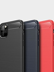 cheap -Case For Apple iPhone 11 / iPhone 11 Pro / iPhone 11 Pro Max Shockproof / Ultra-thin Back Cover Solid Colored Carbon Fiber