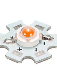 cheap -1pcs 3W High Power LED PCB Bulb Beads Chips Car Indoor Reading Lamp Aquarium Heat Sink - Yellow