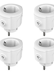 cheap -4 Pack Smart Plug  for Living Room / Study / Bedroom APP Control / Timing Function / Smart WIFI 110-150 V Smart Sokcet Four Pack-EU PLUG