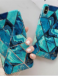 cheap -Luxury Golden Geometric Marble Cell Set for the iPhone 6/6s/6p/6sp/7/8/7p/8p/x/xs/xr/11/11p Soft TPU Cell Set