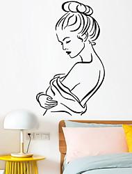 Недорогие -Декоративные наклейки на стены - Простые наклейки / Люди стены стикеры Геометрия В помещении