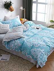 cheap -Duvet Cover Sets Stripes / Ripples Cotton Quilted 4 PieceBedding Sets