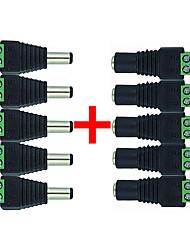 Недорогие -10шт лампы аксессуар / полоса света аксессуар пластик&усилитель; металлические аксессуары для светодиодных лент RGB / для светодиодных лент / источник питания постоянного тока