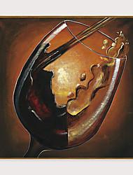 Недорогие -Отпечаток в раме Набор в раме - Абстракция Натюрморт Полистирен Масляные картины Предметы искусства