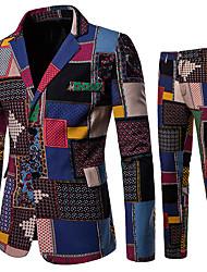 cheap -Men's Suits Shawl Lapel Cotton Rainbow