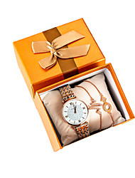 cheap -Women's Quartz Watches New Arrival Minimalist Rose Gold Stainless Steel Chinese Quartz Rose Gold Water Resistant / Waterproof Chronograph Creative 30 m 1 pc Analog One Year Battery Life