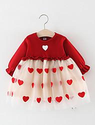 cheap -Kids Girls' Heart Lace Dress Blushing Pink