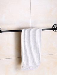 cheap -Multifunction Towel Bar Antique Brass and Ceramic Printing Bathroom Shelf Single Rod Wall Mounted Electroplated