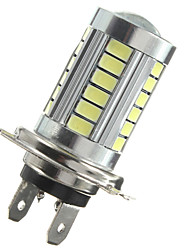 cheap -1pcs H7 5630 33 SMD White LED Car Lens DRL Fog Headlight Light Bulb
