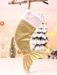 cheap -Cloth beauty fish tail Christmas socks gift bag Holiday Decorations Christmas Decorations Christmas Figurines / Christmas Ornaments / Decorative Objects Cartoon / Decorative / Lovely 1pc