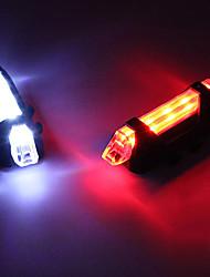 Недорогие -Светодиодная лампа Велосипедные фары Задняя подсветка на велосипед огни безопасности LED Горные велосипеды Велоспорт Велоспорт LED Перезаряжаемая батарея * Перезаряжаемая батарея Белый Красный Синий