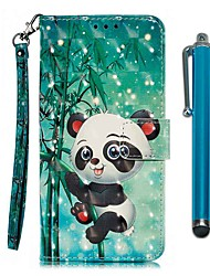 cheap -Case For Apple iPhone 11 / iPhone 11 Pro / iPhone 11 Pro Max Wallet / Card Holder / with Stand Full Body Cases Panda PU Leather