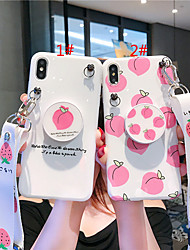 cheap -Case For Apple iPhone XS / iPhone XR / iPhone XS Max with Stand / IMD / Pattern Back Cover Food TPU